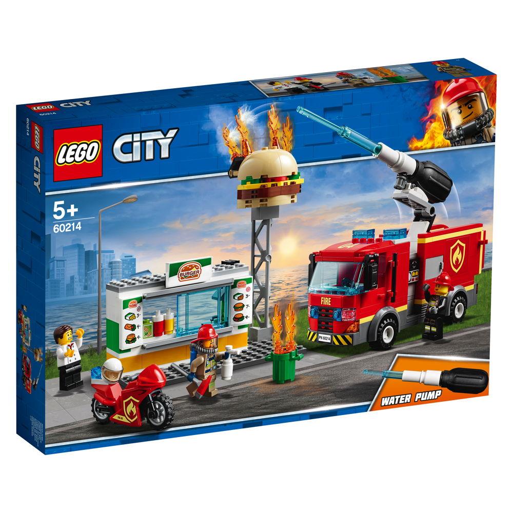 LEGO® City Feuerwehr Feuerwehreinsatz im Burger-Restaurant 327 Teile 60214
