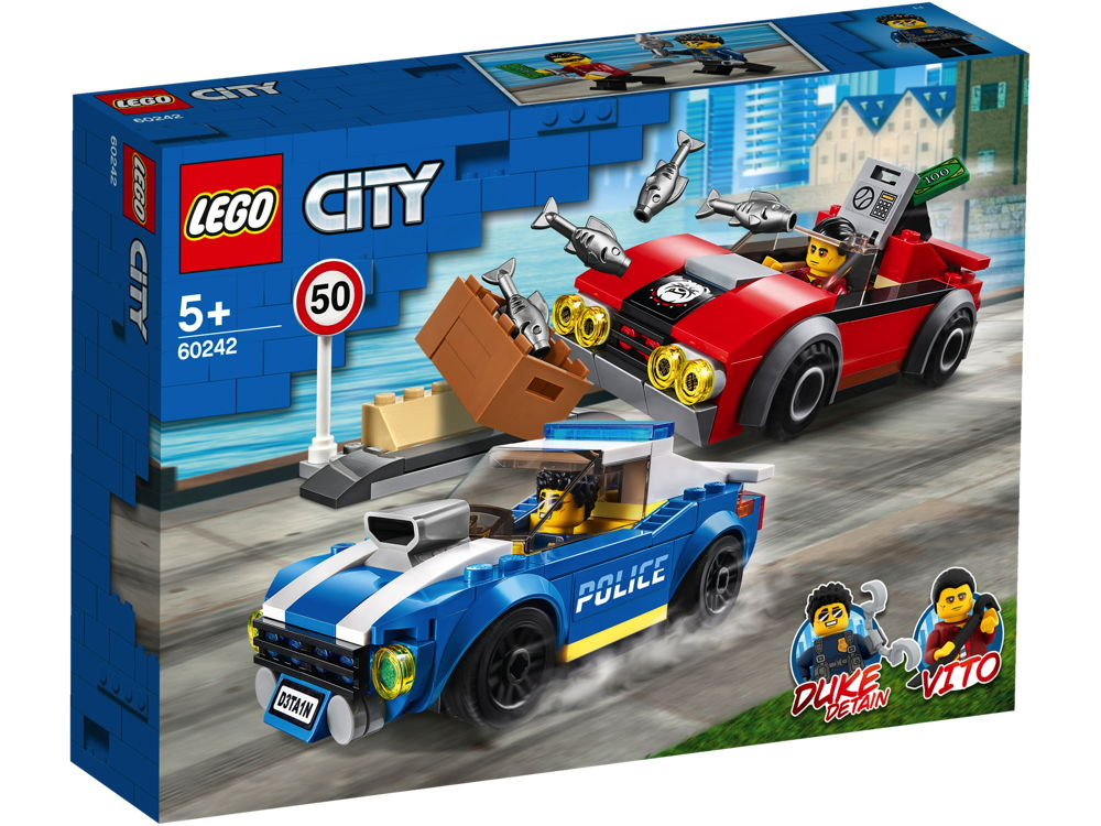 LEGO® City Festnahme auf der Autobahn 185 Teile 60242
