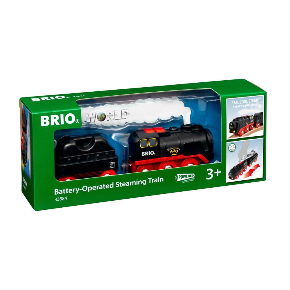 Brio World Eisenbahn Lok Batterie Dampflok mit Wassertank 3 Teile 33884