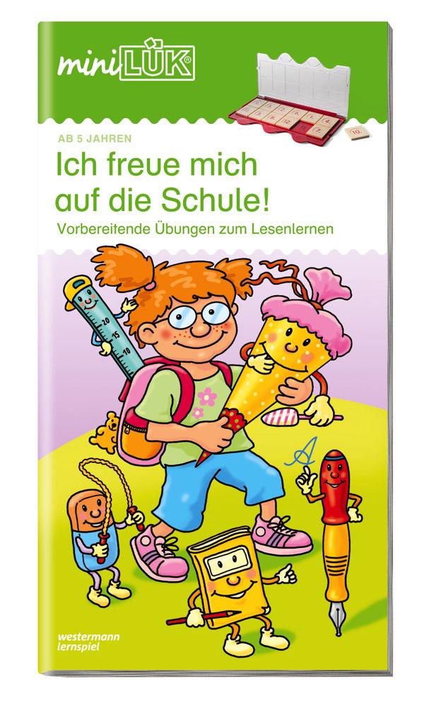 LÜK miniLÜK Buch Ich freue mich auf die Schule 1 ab 5 Jahren 161