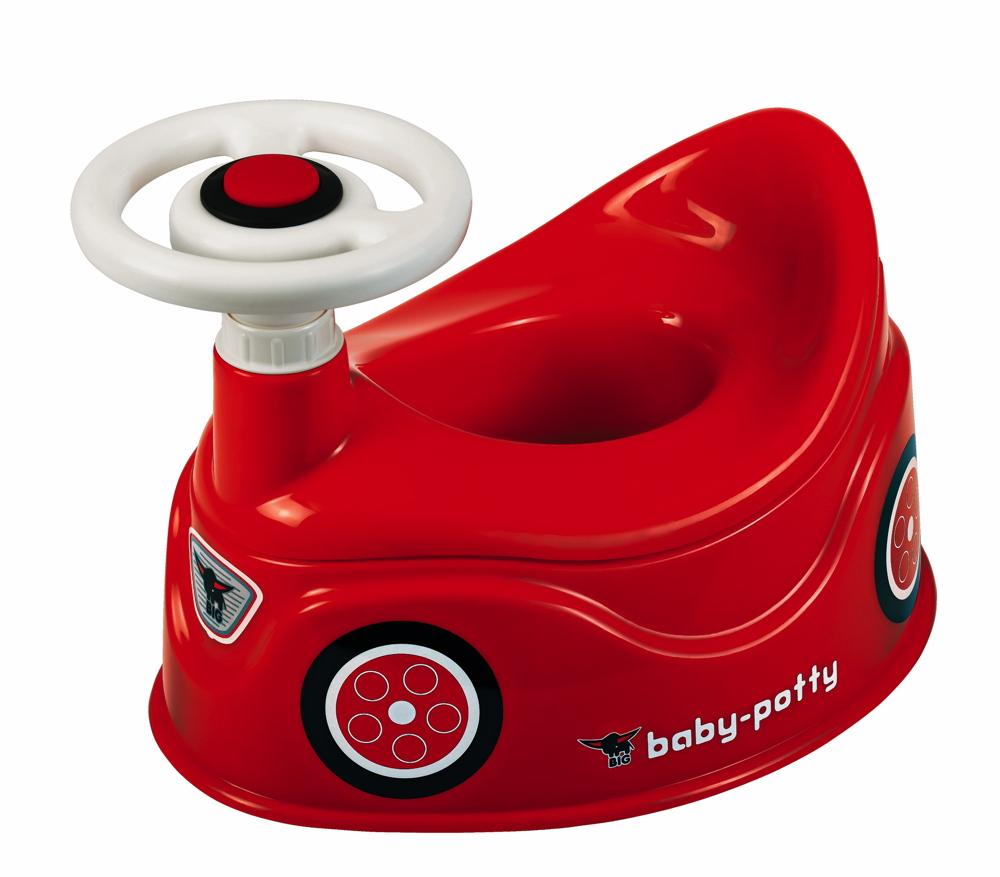 BIG Kleinkind Pflege Töpfchen mit Lenkrad Baby Potty rot 800056801