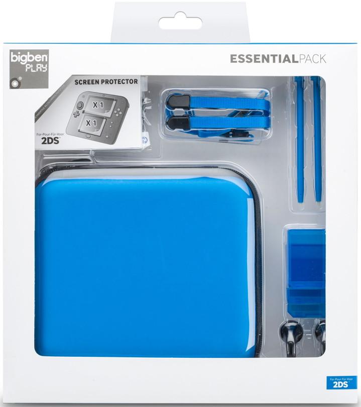 Bigben nintendo 2ds tasche essential pack case blau bb321166 for Housse 2ds bigben
