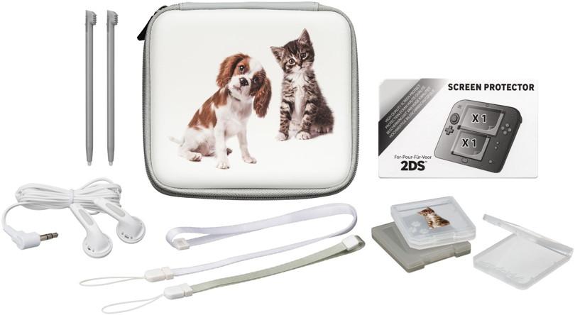 Bigben nintendo 2ds tasche essential pack animals hund und for Housse 2ds bigben