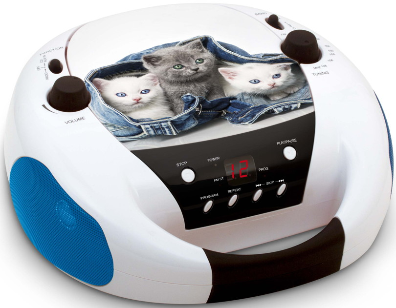 bigben tragbarer cd player cd52 cats ii katzen mit fm. Black Bedroom Furniture Sets. Home Design Ideas