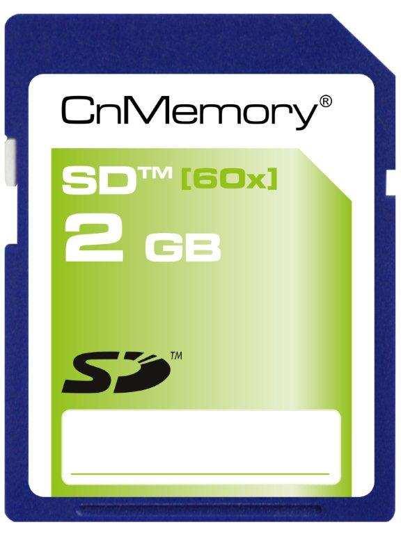 cnmemory sd karte 2gb speicherkarte silver 60x sd card. Black Bedroom Furniture Sets. Home Design Ideas