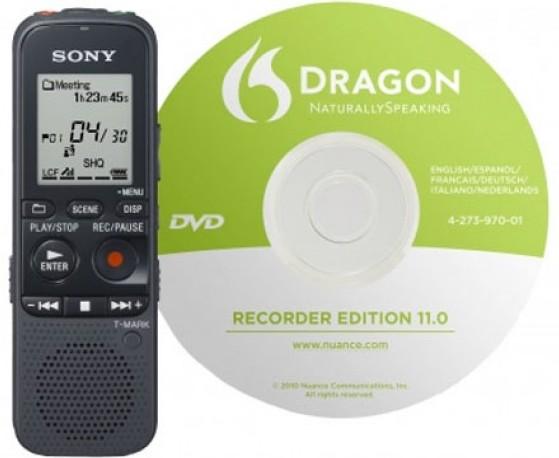 Sony digitales Diktiergerät ICD-PX312D 2GB Spracherkennungssoftware