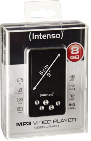 Intenso MP3 Player Video Driver 8GB schwarz 2,0''
