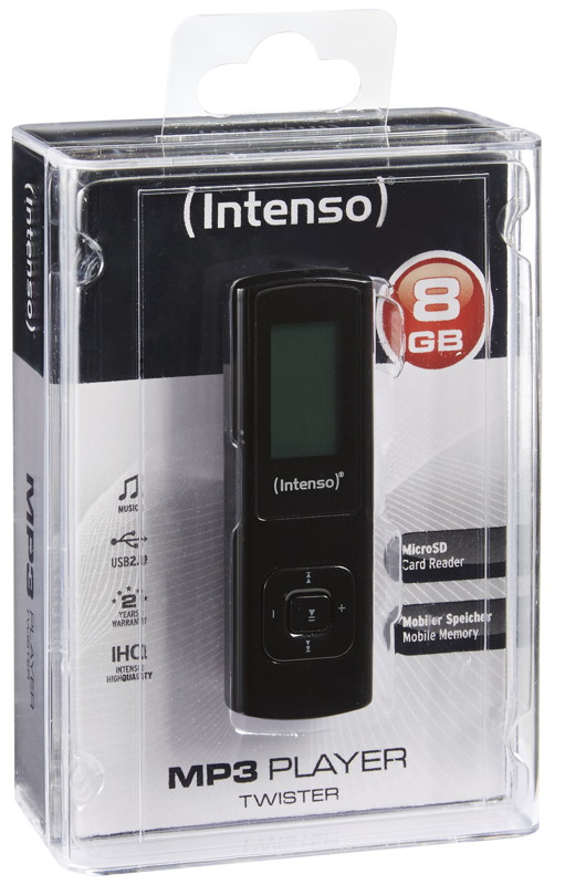 intenso mp3 player music twister 8gb display schwarz. Black Bedroom Furniture Sets. Home Design Ideas