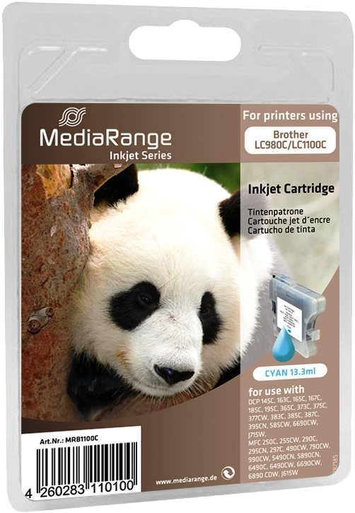 Mediarange kompatible Tintenpatrone zu Brother LC980C / LC1100C cyan 13,3 ml