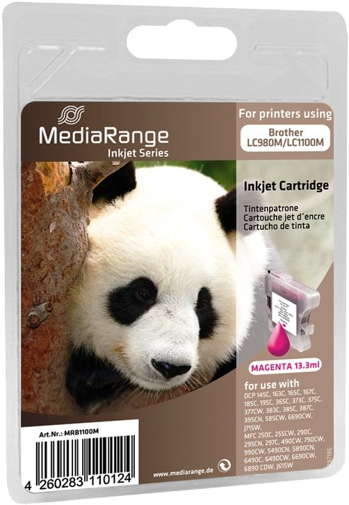 Mediarange kompatible Tintenpatrone zu Brother LC980M / LC1100M magenta 13,3 ml