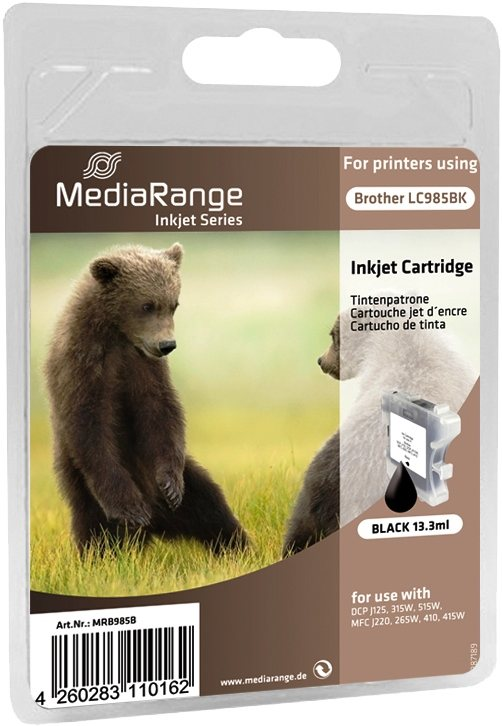 Mediarange kompatible Tintenpatrone zu Brother LC985BK black 13,3 ml