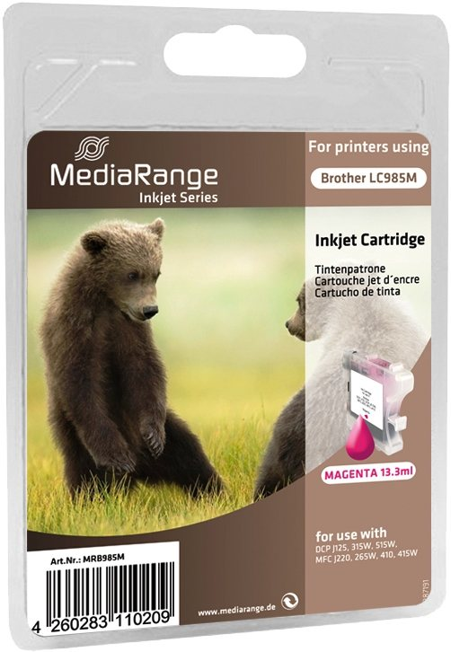 Mediarange kompatible Tintenpatrone zu Brother LC985M magenta 13,3 ml