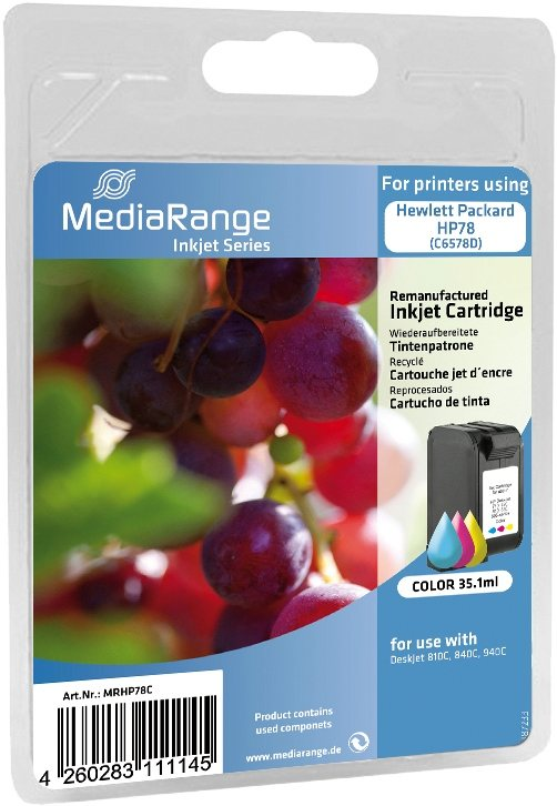 Mediarange kompatible Tintenpatrone zu HP Nr. 78 / C6578D color 35,1 ml