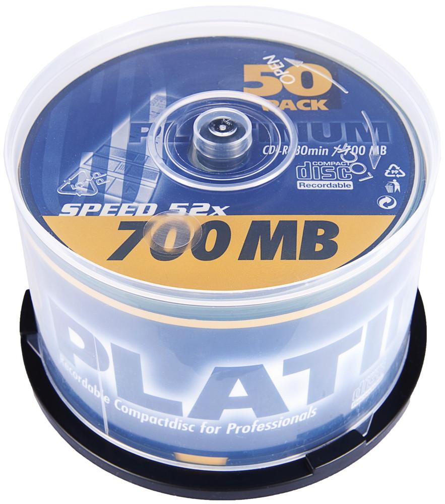 platinum cd r 700mb 52x 50er spindel preisvergleich cd rohlinge g nstig kaufen bei. Black Bedroom Furniture Sets. Home Design Ideas