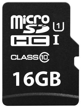 Platinum Micro SDHC Karte 16GB Speicherkarte UHS-I Class 10
