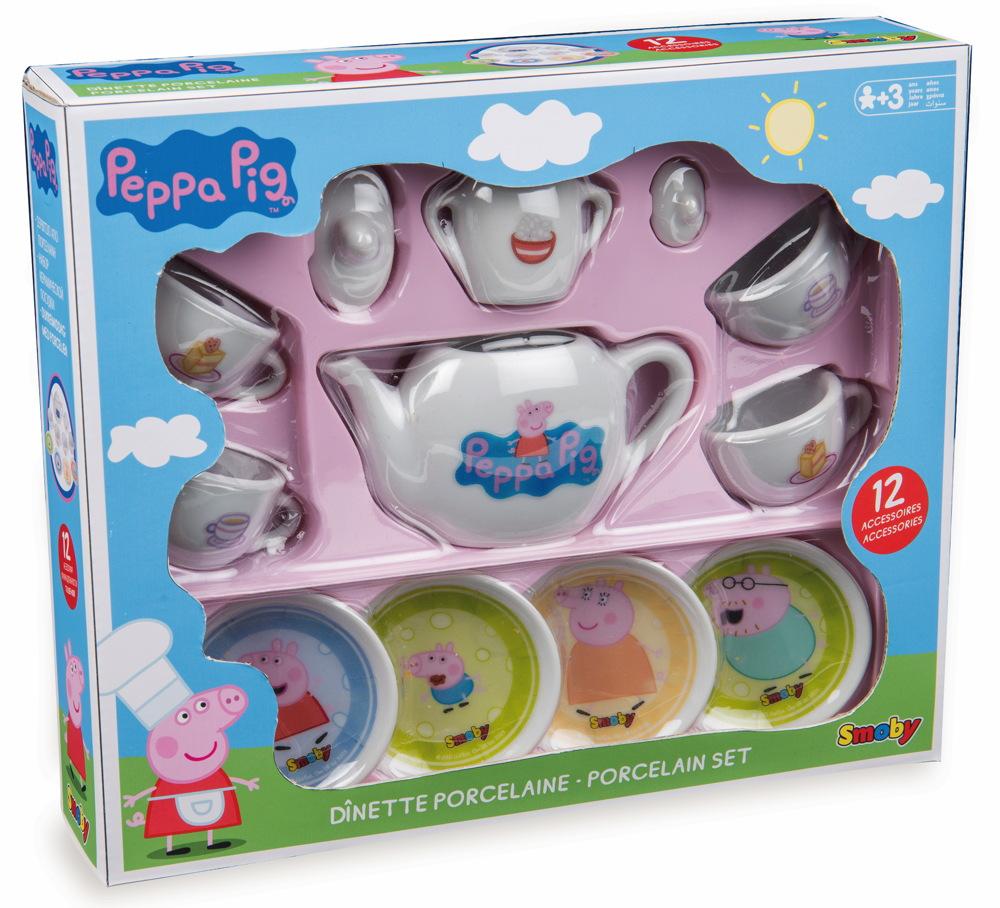 Smoby Spielwelten Küche Porzellan Kaffee Geschirrset Peppa Pig 7600310531