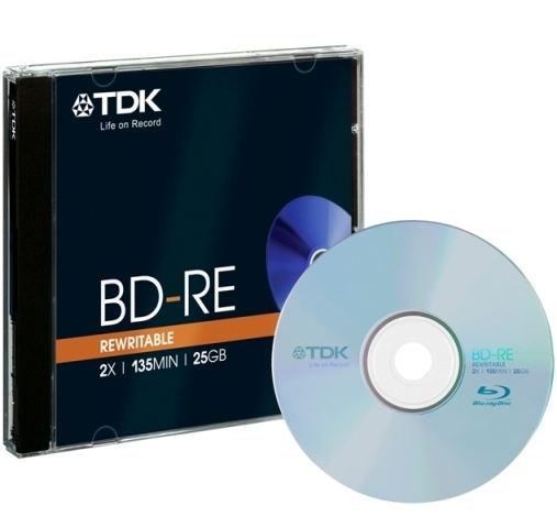5 TDK Blu-ray BD-RE 25GB 2x Jewelcase
