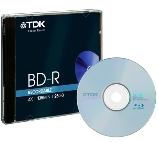 1 TDK Blu-ray BD-R 25GB 4x Jewelcase