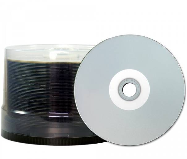 600 JVC (Taiyo Yuden) CD-R full silver printable watershield 80min 700MB 48x Spindel