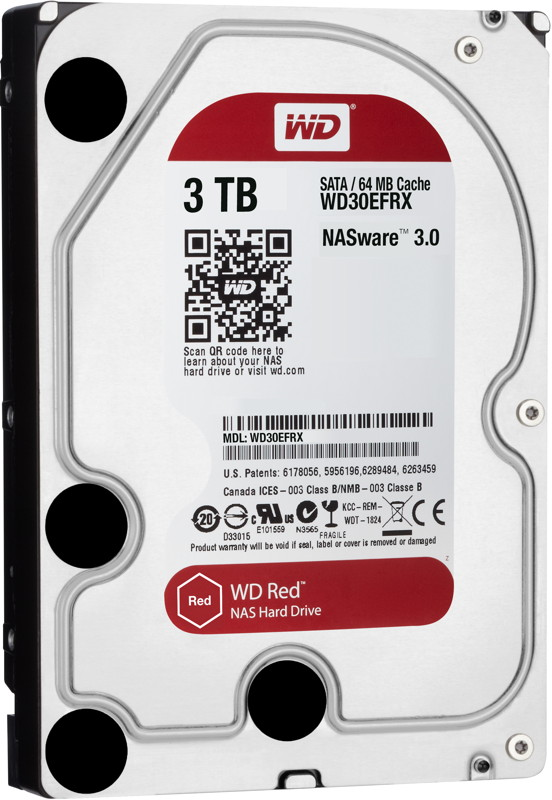 WD Western Digital interne HDD Red 3,5 Zoll 3TB IntelliPower 64MB SATA III WD30EFRX
