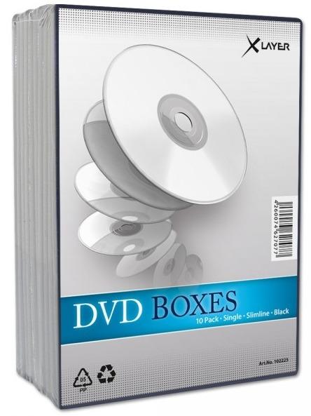 10 Xlayer DVD Hüllen slim 7 mm für je 1 CD/DVD