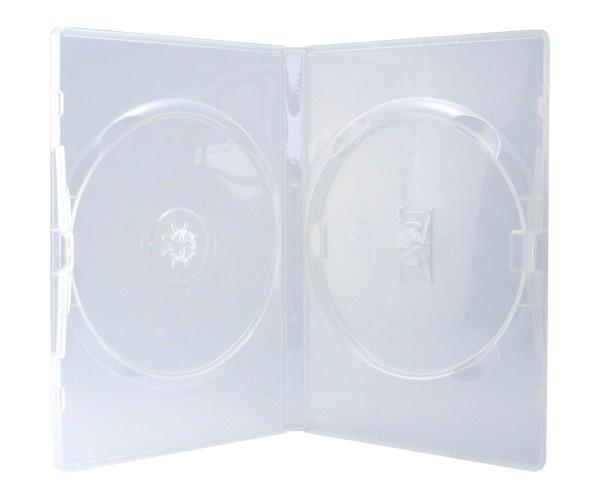 100 amaray dvd h llen 2er box 14 mm f r je 2 bd cd dvd transparent ebay. Black Bedroom Furniture Sets. Home Design Ideas