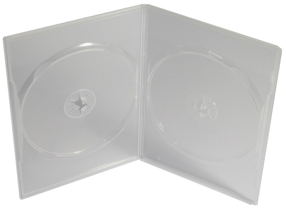 50 amaray dvd h llen slim 7 mm f r je 2 cd dvd transparent 2er. Black Bedroom Furniture Sets. Home Design Ideas
