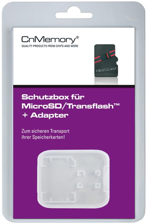 CnMemory SD / SDHC / SDXC Case transparent, Hülle Aufbewahrungsbox