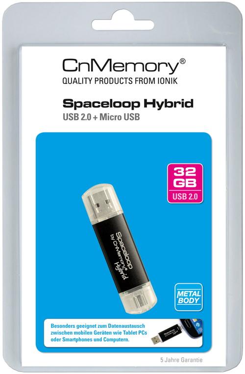 cnmemory usb stick 32gb speicherstick otg spaceloop hybrid micro usb anschluss ebay. Black Bedroom Furniture Sets. Home Design Ideas