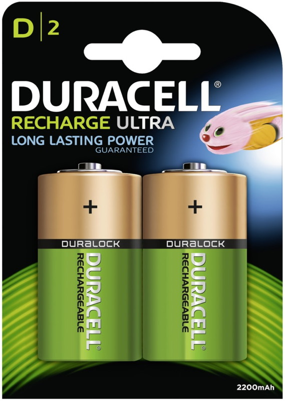 8 Duracell Akku D 2200mAh Nickel-Metall-Hydrid Blister