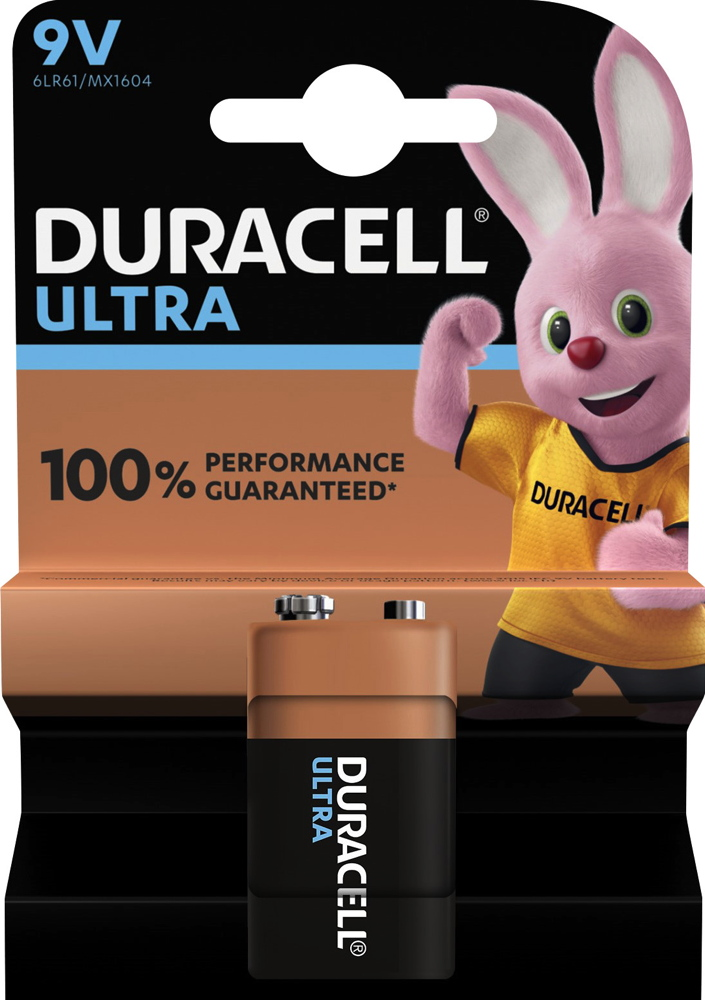 20 Duracell Ultra Power 9V Block / MX1604 Alkaline Batterien Blister
