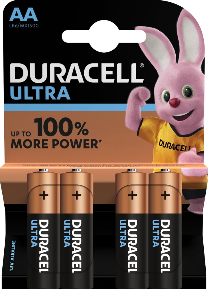 4 duracell ultra power aa mignon mx1500 alkaline batterien im 4er blister. Black Bedroom Furniture Sets. Home Design Ideas