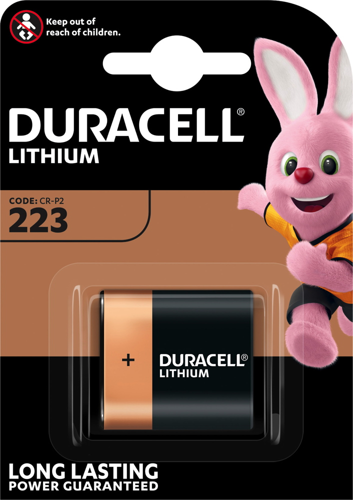 1 Duracell Ultra Photo CR-P2 / DL223 Lithium Batterie Blister