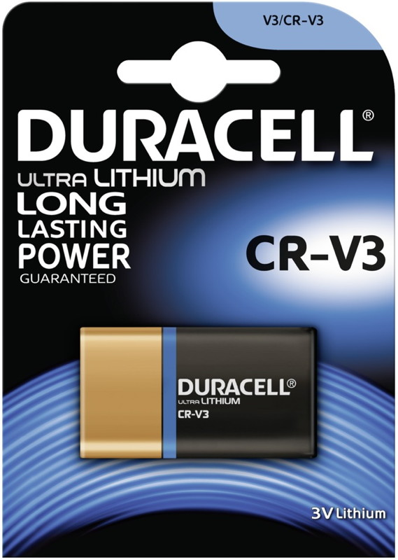 2 Duracell Ultra Photo CR-V3 Lithium Batterien Blister