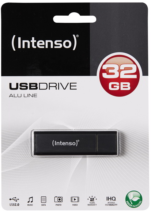 Intenso USB Stick 32GB Speicherstick Alu Line anthrazit