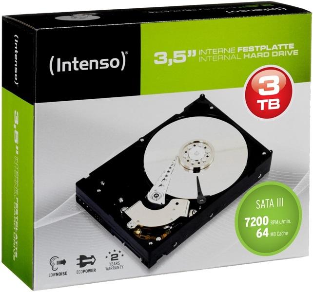 Intenso HDD interne Festplatte 3,5 Zoll 3TB 7200 RPM 64MB SATA III