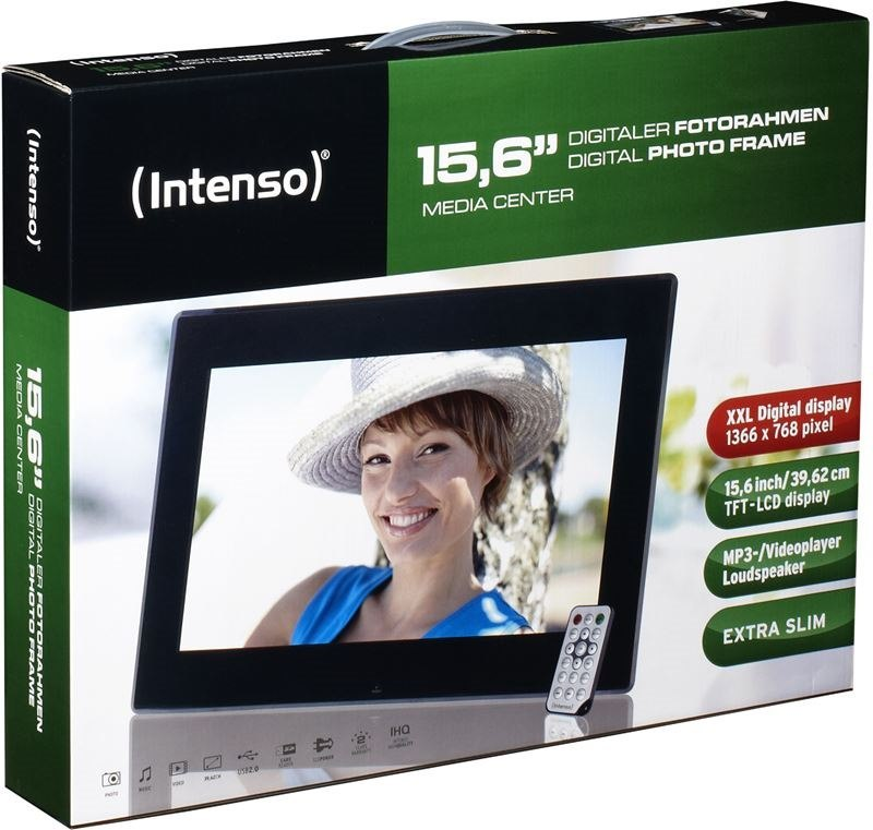 Intenso 15,6'' Media Center digitaler Bilderrahmen, Media Frame