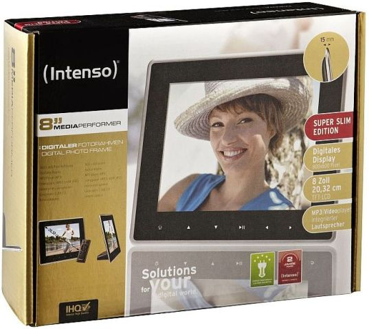 Intenso 8'' Mediaperformer digitaler Bilderrahmen, Photo Frame