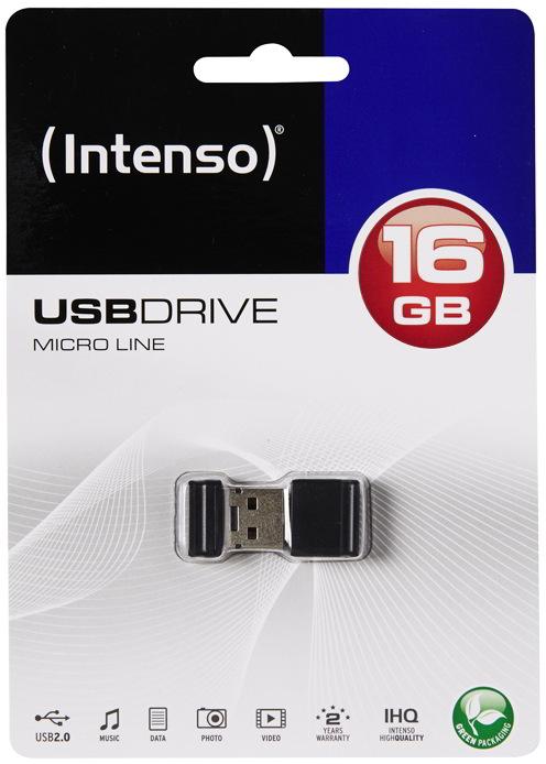 Intenso USB Stick 16GB Speicherstick Micro Line