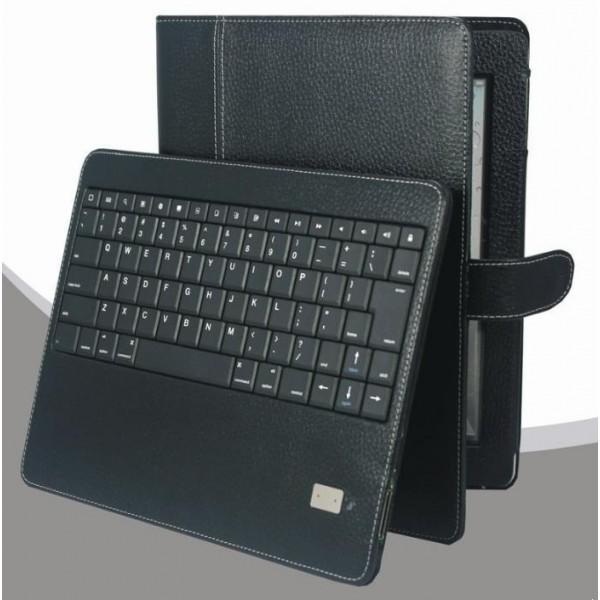 Chesskin PU Bluetooth Tastatur schwarz Ledertasche für iPad 2 / 3