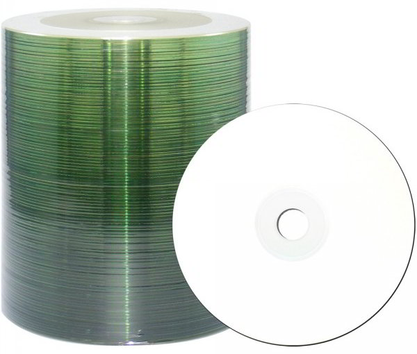 100 JVC (Taiyo Yuden) CD-R full printable watershield Eco 80min 700MB 48x Spindel