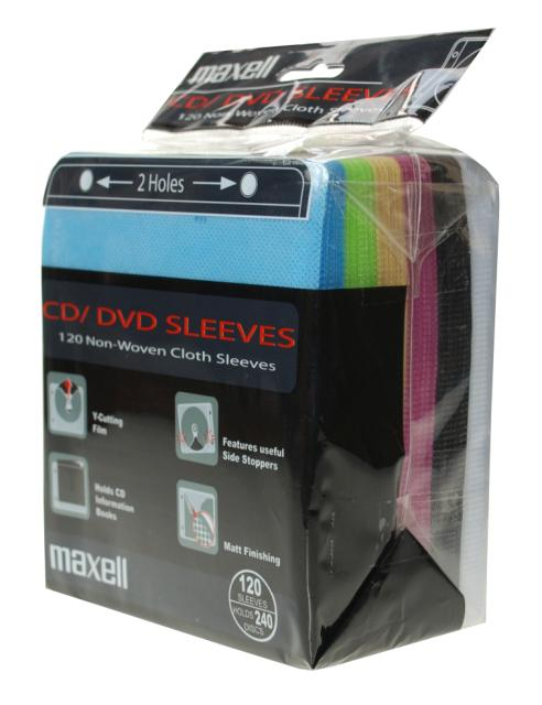 120 Maxell Sleeve 2er gelocht Ringordner color mix
