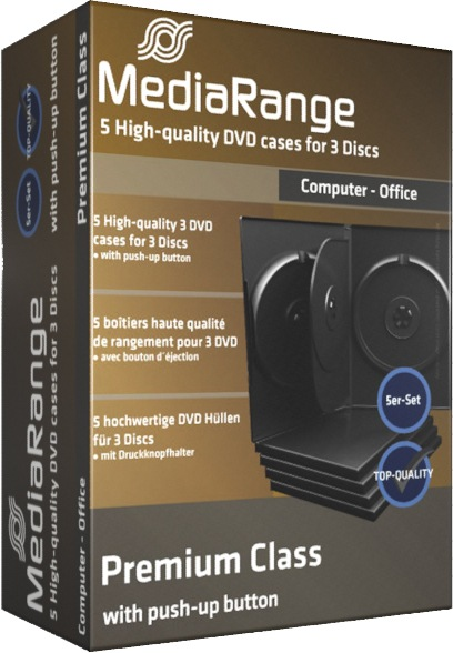 5 Mediarange DVD Hüllen 14 mm für je 3 CD/DVD