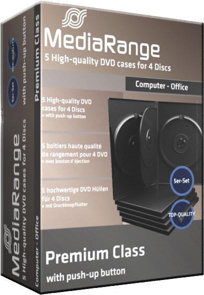 5 Mediarange DVD Hüllen 14 mm für je 4 CD/DVD