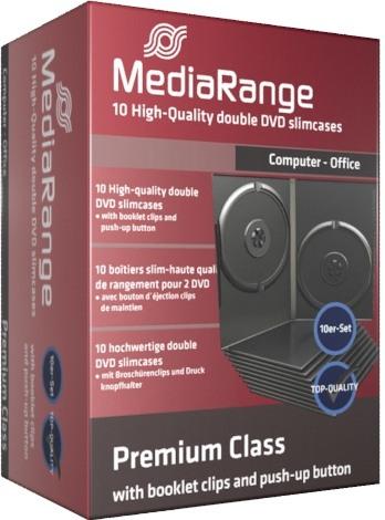 10 Mediarange DVD Hüllen slim 9 mm für je 2 CD/DVD