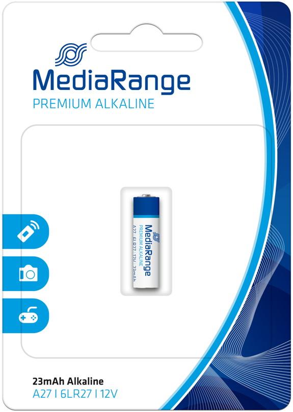1 Mediarange Security A27 / 6LR27 / LR27 / MN27 Alkaline Batterie Blister