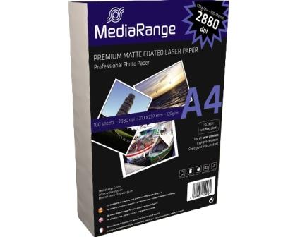 Mediarange Fotopapier Laser matt A4  120g/m² 100 Stück