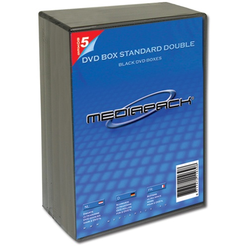 5 Mediapack DVD Hüllen für je 2 CD/DVD