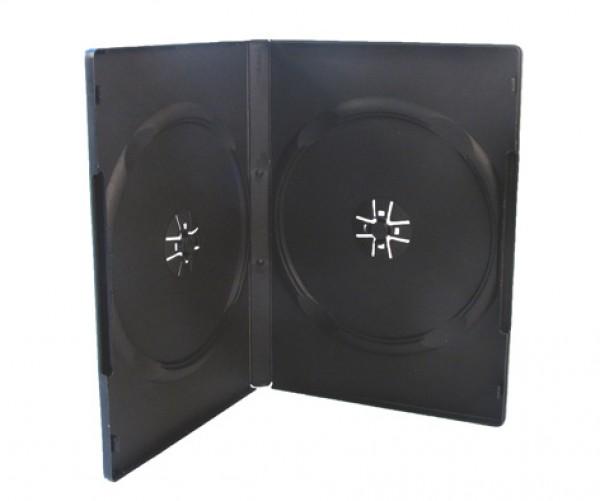 100 DVD Hüllen schwarz 14 mm 2er