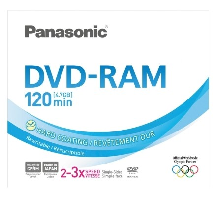 5 Panasonic DVD-RAM 4,7GB 120Min 3x Slimcase